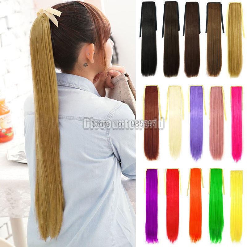 2015 новые девушки синтетический косплей хвост длинные прямые клип наращивание волос парики ( fx230 ) бесплатная доставка