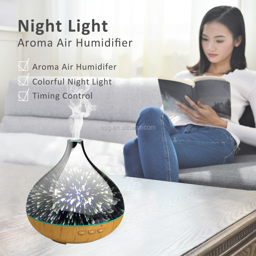 Forrinx SJA-16 Smart 400mL Nebulizezr Glass Ultrasonic Aromatherapy Diffuser works with Google Assistant