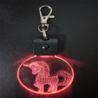 3D Led Night lamp small keychain keyring for holiday promotion gifts