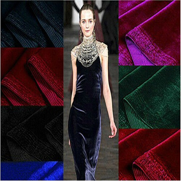 2016 High performance material 92% polyester 8% spandex ks velvet dress fabric/trousers/skirt for markets