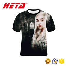 New arrival top sale printed blank t-shirt for man with your own label and logo custom sublimation t shirt game of thrones