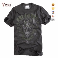 plus size discharged printing vintage wash t shirts men
