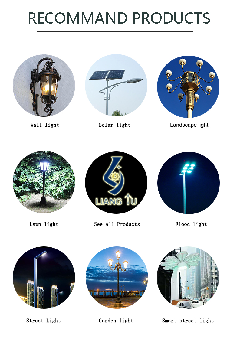 3 Ornaments Outdoor Lighting Light Post Street Sand Cast Iron Pole For Sale