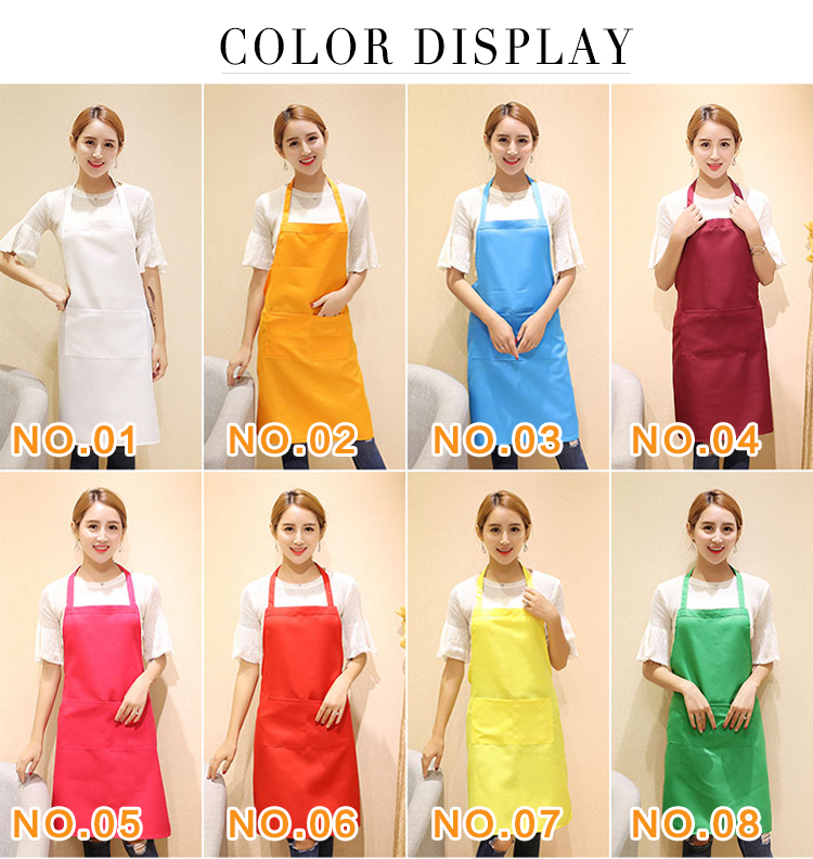 Hot sale printed logo kitchen apron for restaurant waiter/100% Polyester uniform fabric Advertisement gift apron cheap