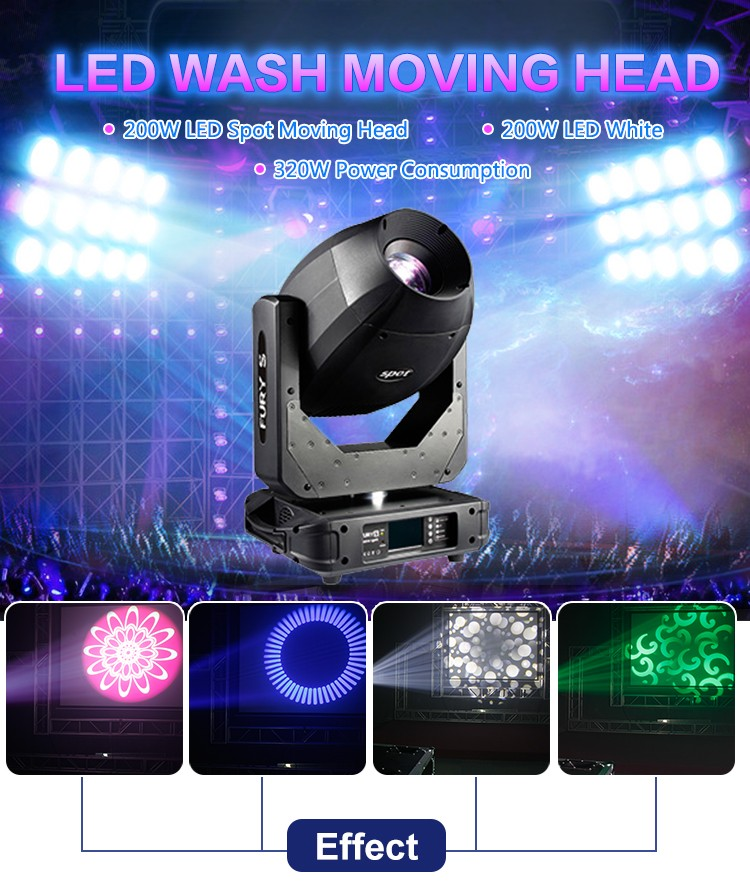 New Stage Lighting LED 200W Moving Head Spot