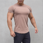 cheap unbrand men t shirts wholesale OEM cotton gym clothing bodybuilding fitness t shirt