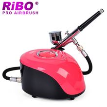 Plastic compressor machine with 0.2mm 0.3mm 0.5mm Nozzle airbrush gun for makeup