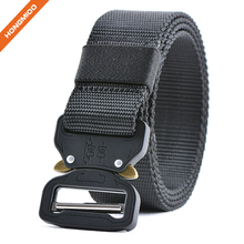 Cool Mens Military Nylon Canvas Tactical Cobra Belt with Heavy-Duty Metal Buckle