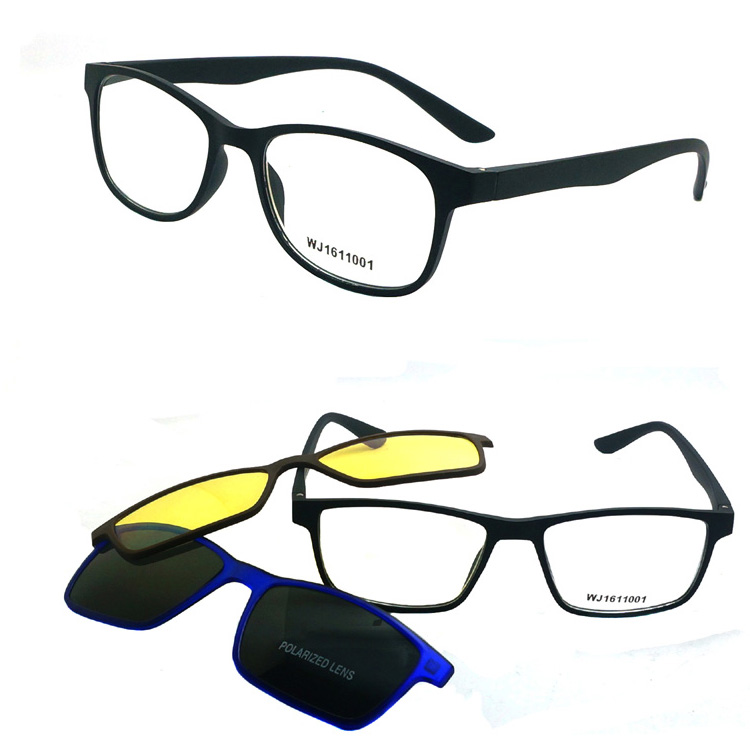 Free sample multi-function frame night driving clip-on reading glasses