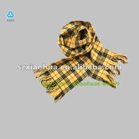 latest scarf designs checked scarves and shawls XV-77