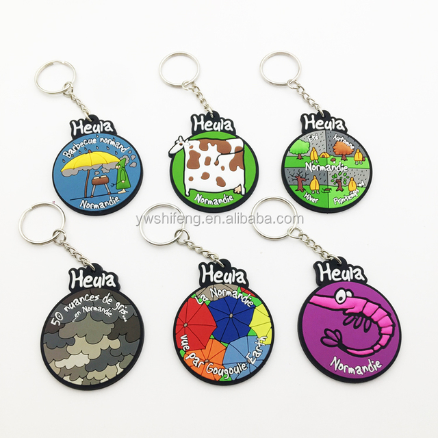 Popular Rubber Printed PVC keychain