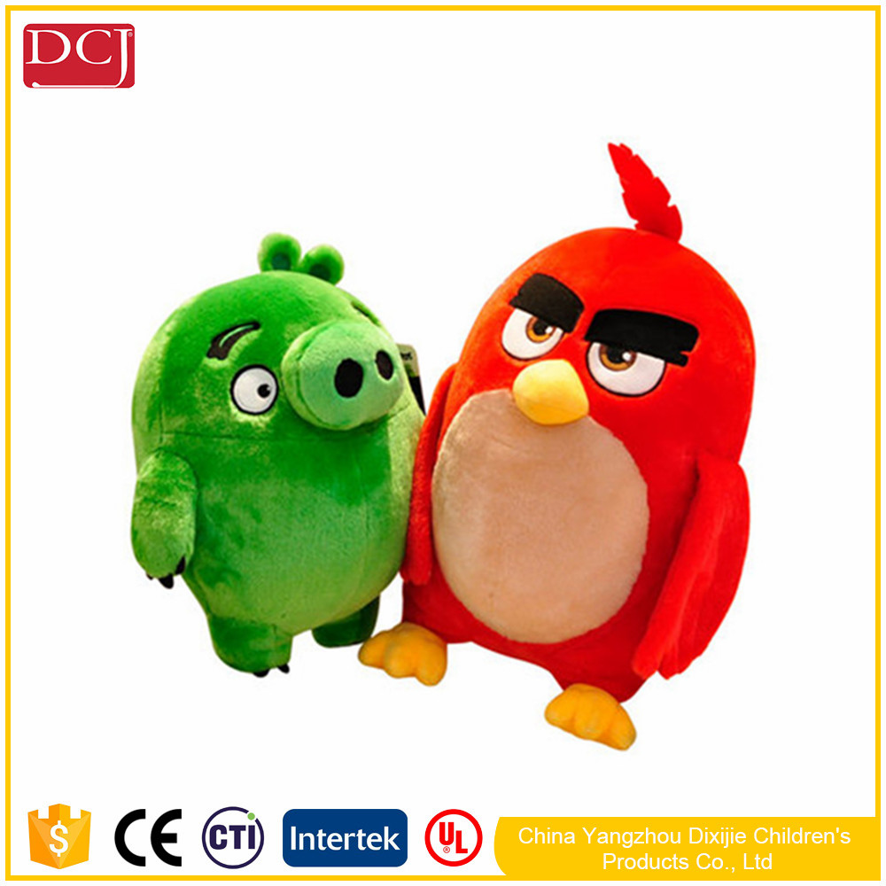 fashion high quality angry amuse plush baby toys bird from hot for gifts