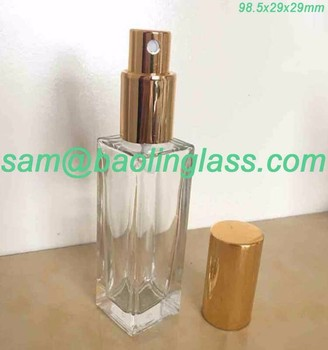 4923eb0fc130 Slim Rectangular Clear Glass Empty Refillable Replacement Glass Perfume Or  Cologne Bottle With Spray Applicator - Buy Slim Rectangular Clear ...