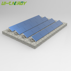Custom made cheap flat roof solar steel structure