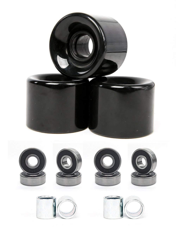 FREEDARE 58mm Skateboard Wheels 82a + ABEC-7 Bearing Steel and Spacers Cruiser Wheels (Pack of 4)