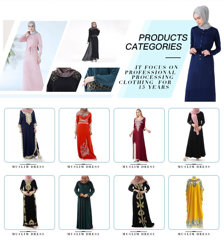 Wholesale Women Long Maxi Skirt Muslim Abaya Islamic Clothing Woman Dress