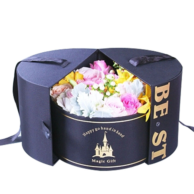 Wholesale Cardboard Luxury Personalized Rose Packaging Folding Flower Paper Box
