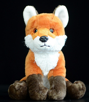 free sample plush fox toys stuffed fox toys lifelike 17cm sitting size soft fox toys