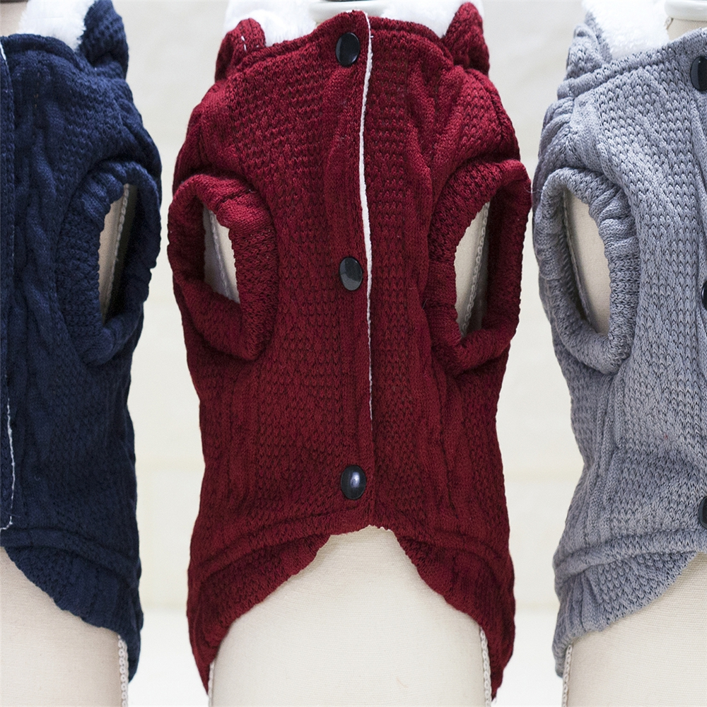 Lovoyager wholesale dog clothes winter knit dog sweater dog coat