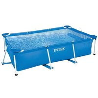 Intex 28270 220cmx 150cmx60cm Metal Frame Pool Durable Family rectangular Swimming Pool