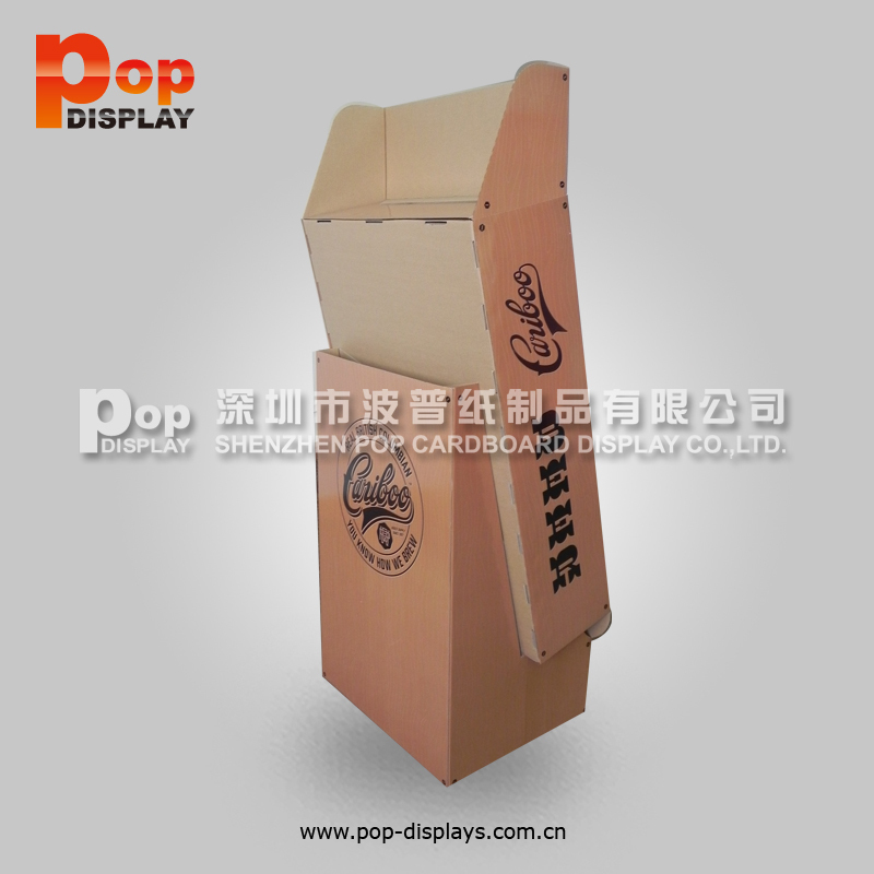 Store Coffee Bean Cardboard Compartments Display