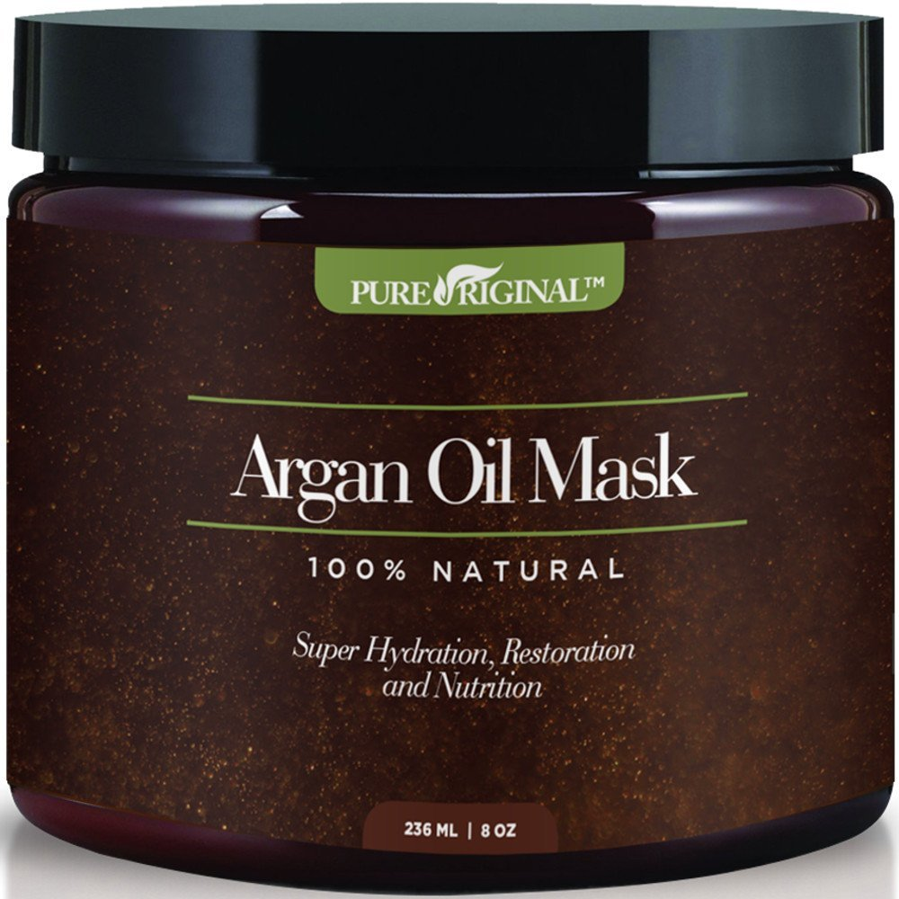 Pure Originals Argan Oil Hair Mask, Deep Conditioner 8 Oz,100% Organic Jojoba Oil, Aloe Vera & Keratin, Repair Dry, Damaged Or Color Treated Hair After Shampoo, Best For All Hair Types