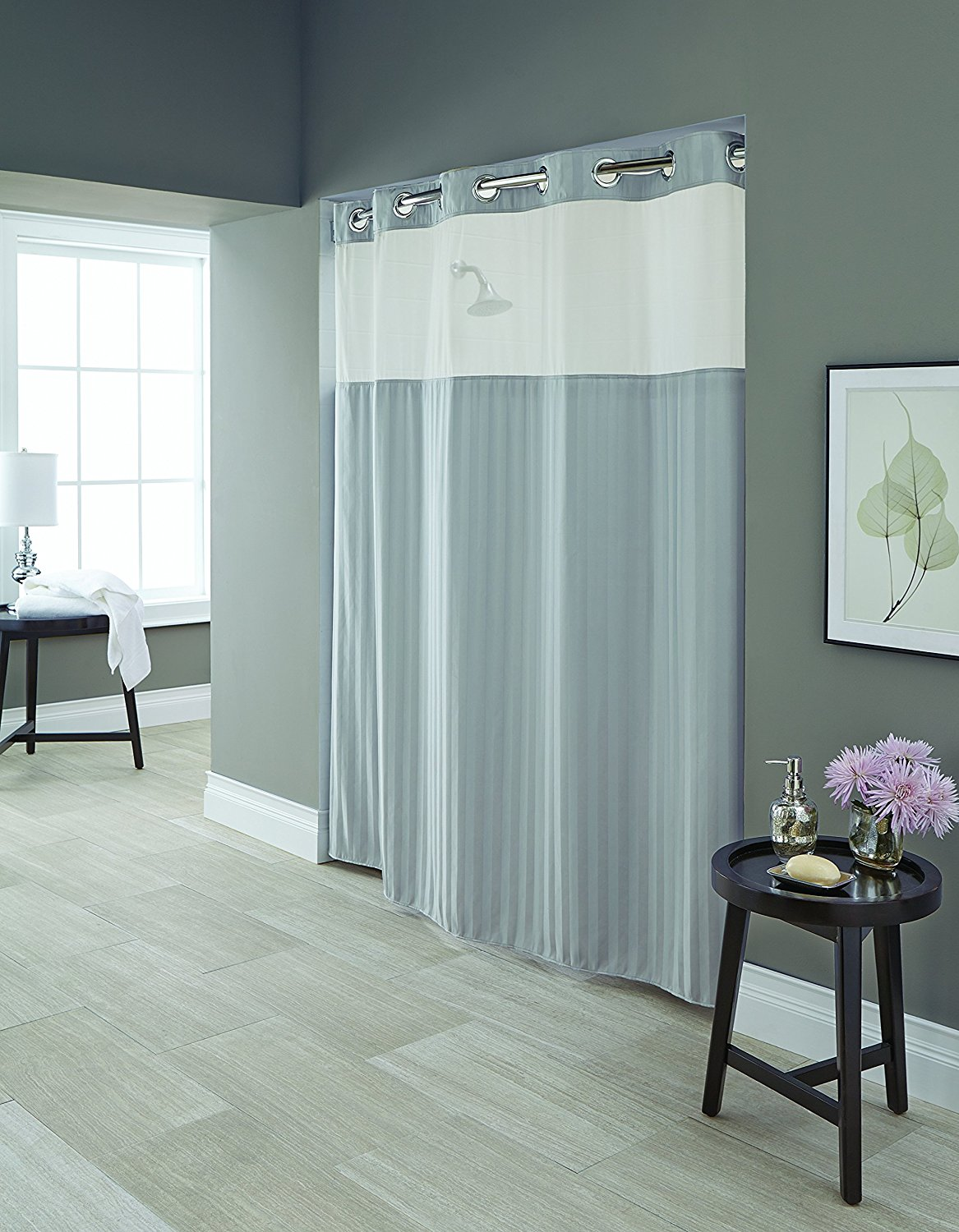 Cheap Clear Hookless Shower Curtain, find Clear Hookless Shower ...