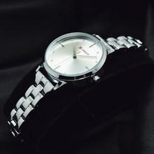 Часы CURREN женские, черные, с ремешком(Китай)