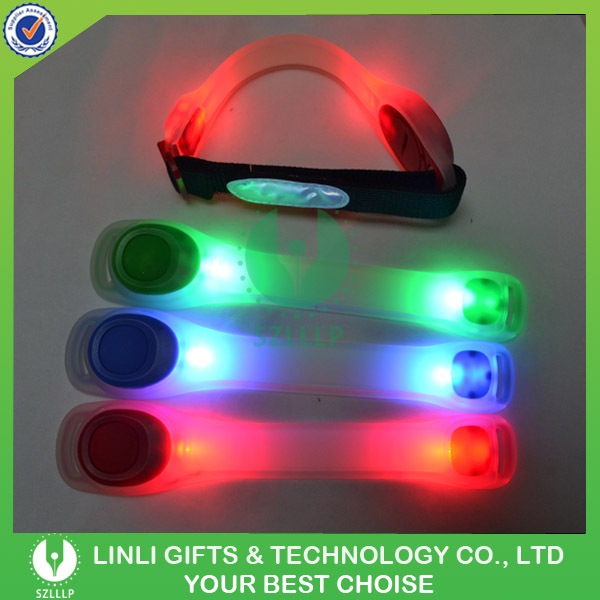 Custom Cheap Safety Reflector LED Armband With Flashing Light