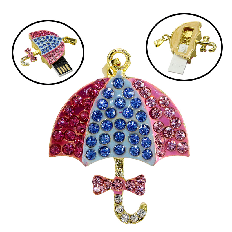 pendrive usb flash drive crystal Umbrella 4gb 8gb 16gb 32gb 64gb pen drives parasol usb flash memory gifts
