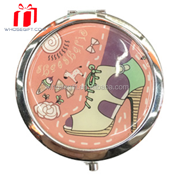 70mm Silver Plated / 2016 Blank Compact Mirrors Silver Custom Gift for Ladies