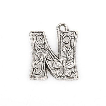 Custom Letter Alphabet Design With Flowers N Charms For Jewelry Making