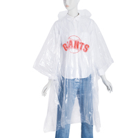 Factory Directly sale disposable pe rain poncho with logo