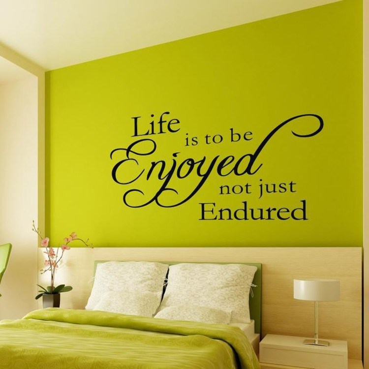 Living Room Wall Quotes: Just-Enjoy-Life-Removable-Fine-Quality-Vinyl-Black-Wall
