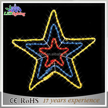 60cm Commercial Twinkling Christmas Light Star Motif Rope Light ...