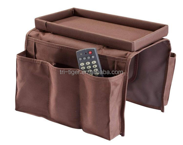 6 Pocket Sofa Side Arm Rest Organizer With Table top Buy Sofa Organizer Sofaside Organizer