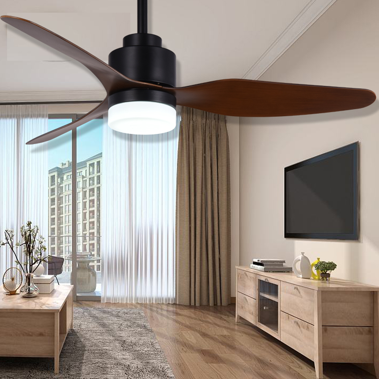 Simple Modern Metal Pendant Ceiling Fans With Led Light Remote Control