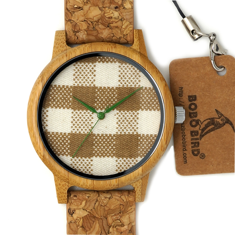 BOBO BIRD Luxury Brand wood watch dropshipping leather strap bamboo wooden watch for <strong>men</strong>