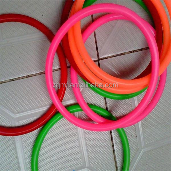 High quality colored hard plastic ring, game prop plastic o ring