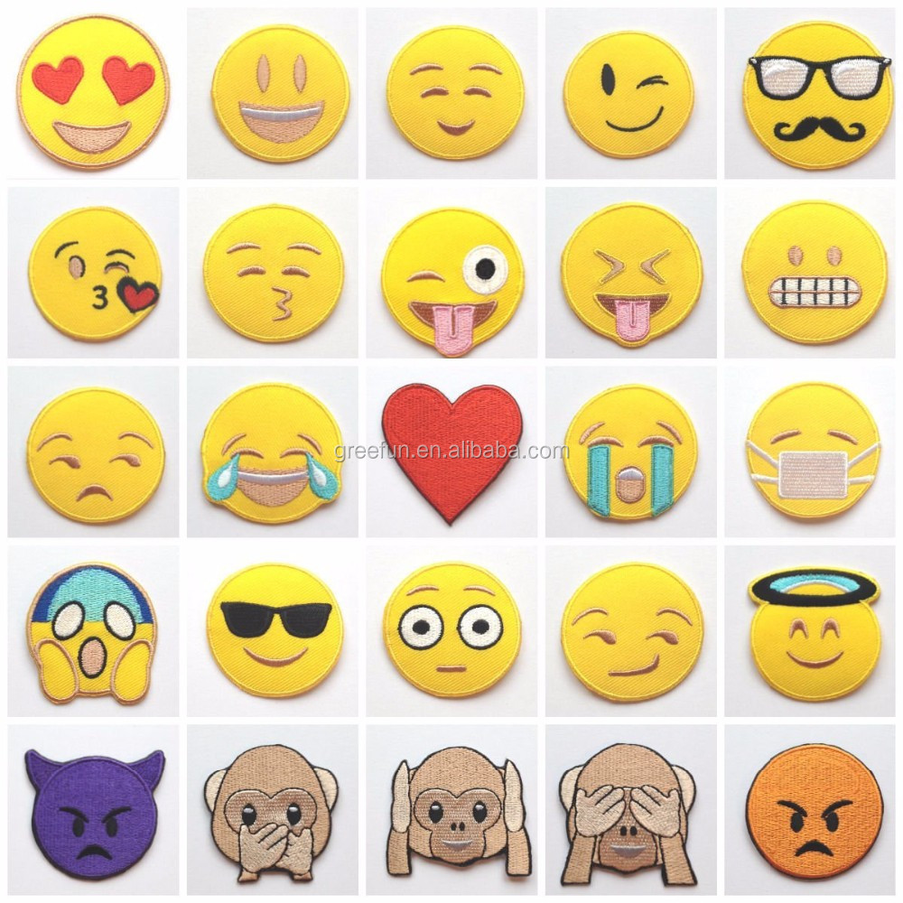 cool custom crying face designs emoji patch cute smiley