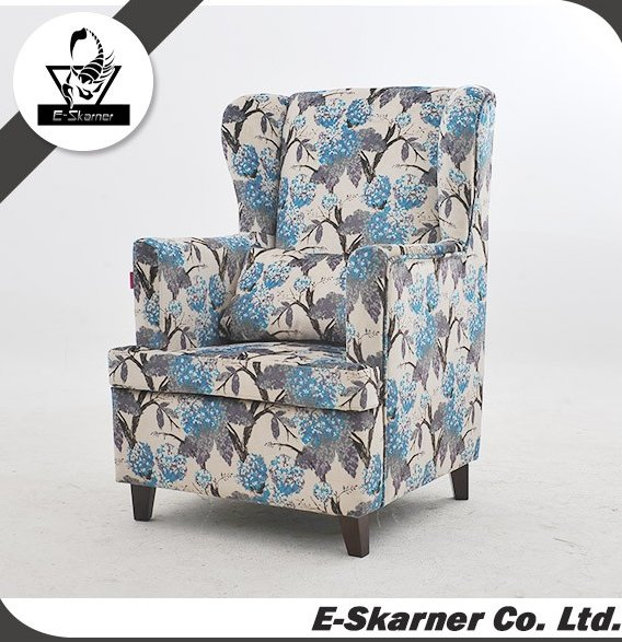 E-Skarner high class royal home furniture single seat sofa for sale