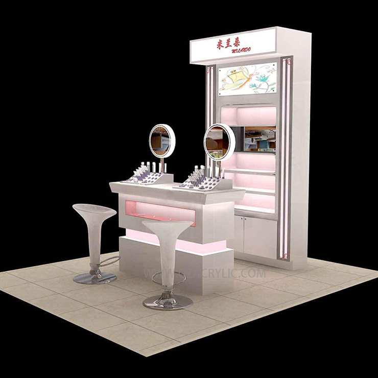 Customized Wooden Acrylic Painting Cosmetic Table Display With Light   Buy  Makeup Mac Cosmetic Display Stand,Acrylic Makeup Display Acrylic Makeup  Display ...