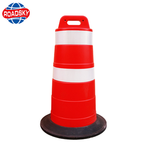 plastic water filled reflective safety traffic barrier barrel