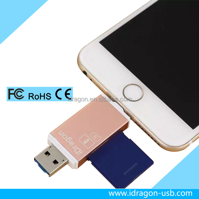 Micro USB memory mibeat card reader/writer 24 in 1 for iphone 7