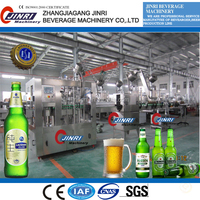 Complete automatic glass bottle beer production line /bottling equipment/filling machine