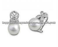 south sea pearl earrings -703
