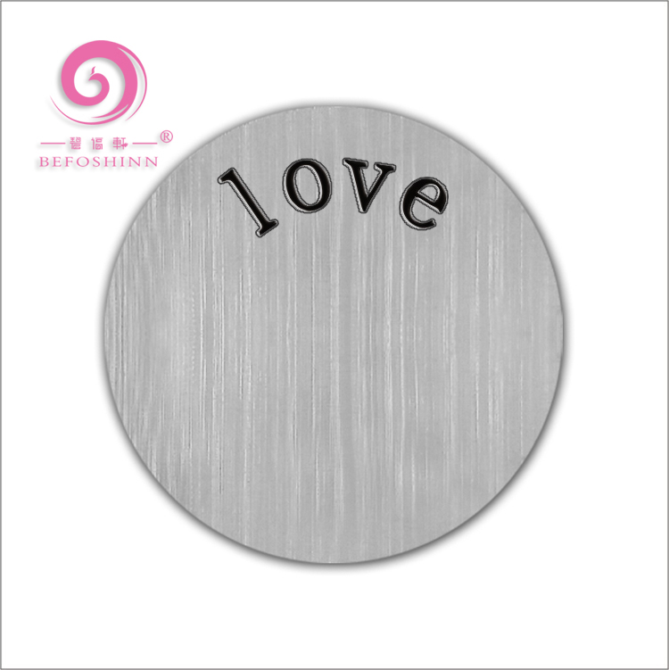 Free Sample Custom Printed Logo Stainless Steel Love Letter Metal