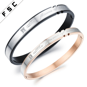 Wholesale Stainless Steel CZ Eternal Love Bracelets Bangles Men
