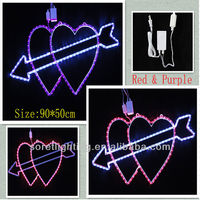 Red Double Star Motif LED Christmas Light For Wedding