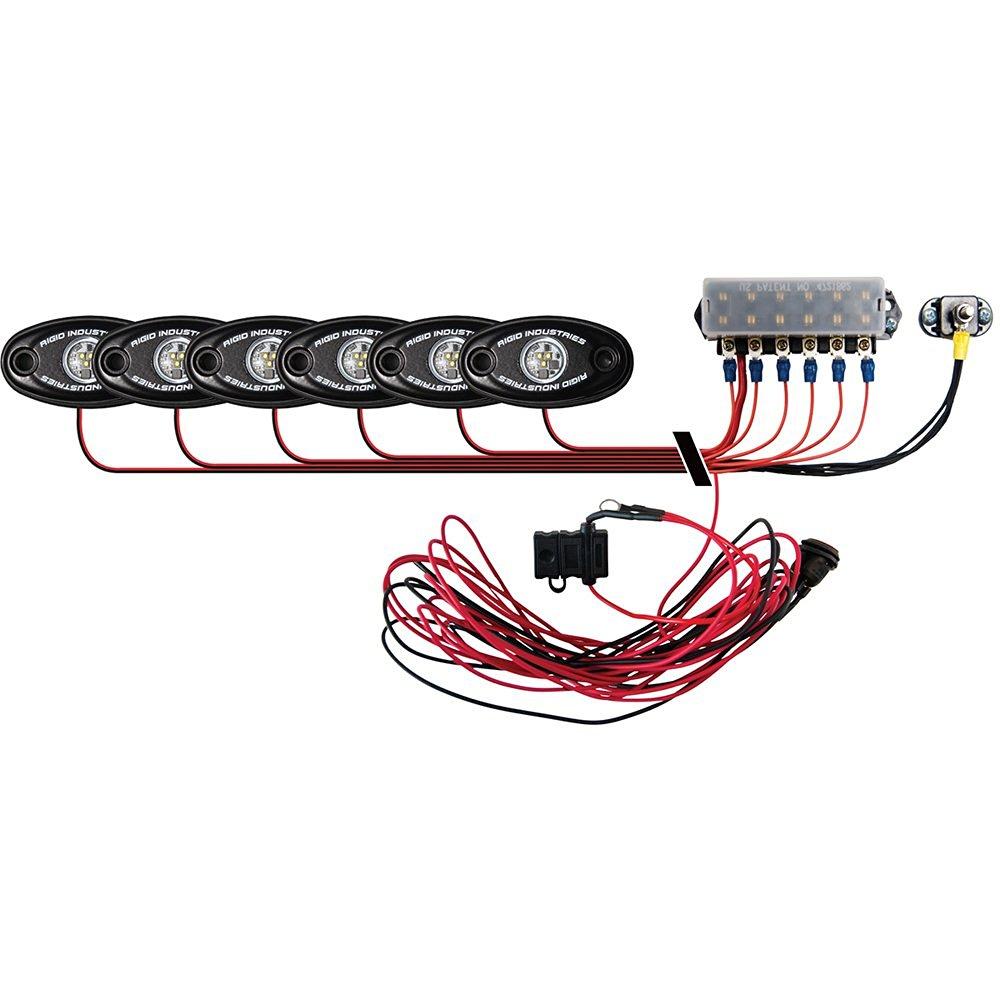 Rigid Industries Signature Series Deck Light Kit - 6 Cool White Lights (52450)